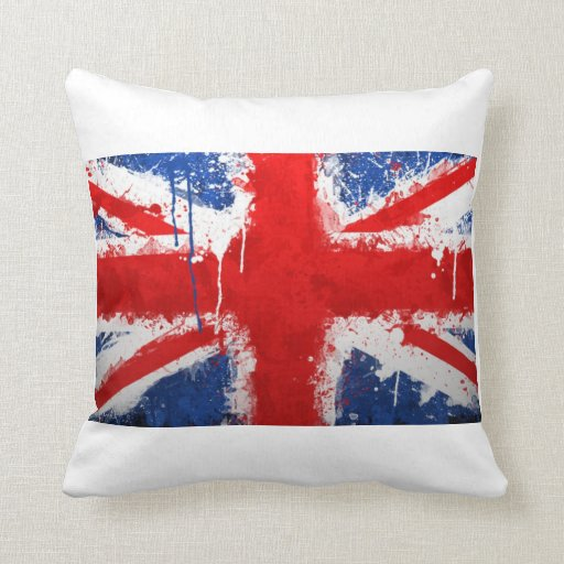 Cool england flag throw pillows zazzle for Cool couch pillows