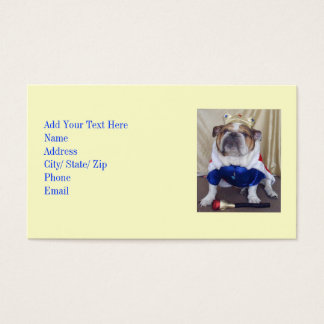 Cool English Bulldog Business Cards