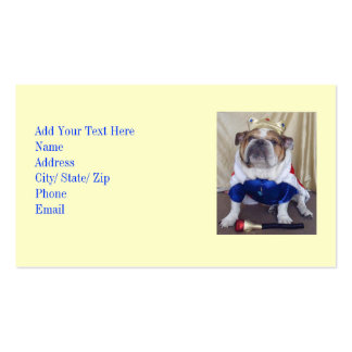 Cool English Bulldog Business Cards