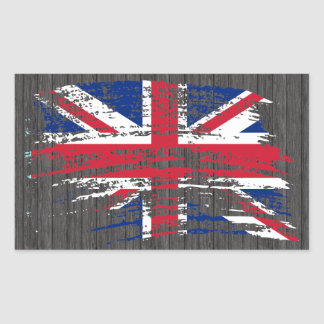 Cool English flag design Rectangular Sticker