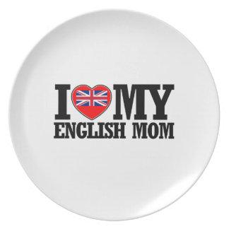cool English  mom designs Dinner Plate