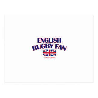 cool English rugby fan DESIGNS Postcard