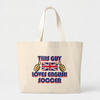 cool ENGLISH soccer DESIGNS Large Tote Bag