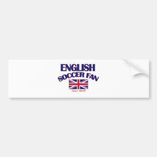 cool english soccer fan DESIGNS Bumper Sticker