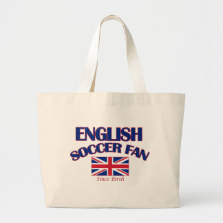 cool english soccer fan DESIGNS Large Tote Bag