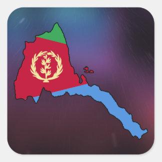 Cool eritrea Flag Map Square Sticker