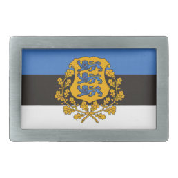 Cool Estonia Flag Belt Buckle! Rectangular Belt Buckle