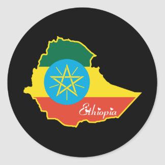 Cool Ethiopia Round Stickers