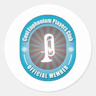 Cool Euphonium Players Club Classic Round Sticker