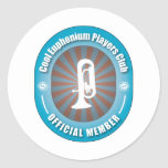 Cool Euphonium Players Club Round Stickers