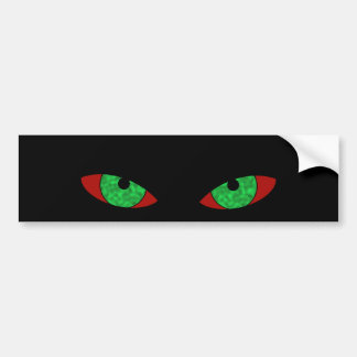 Cool Evil Eyes look out on this bumper sticker