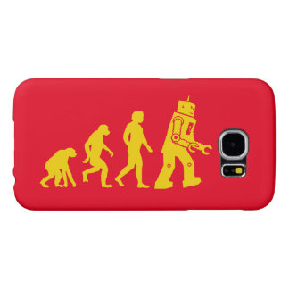 Cool evolution of ape to Man, Man to robot diagram Samsung Galaxy S6 Case