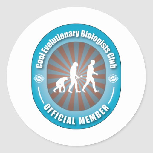 Cool Evolutionary Biologists Club Classic Round Sticker
