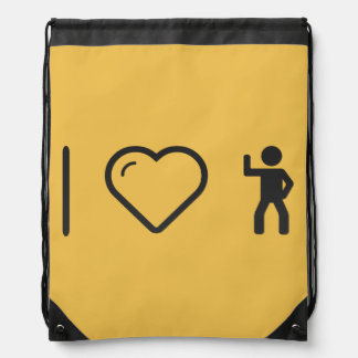Cool Exercise Examples Drawstring Bags