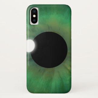 Cool eyePhone Green Eye Iris Eyeball Closeup Slim iPhone X Case