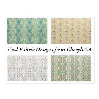 Cool Fabric Designs from CherylsArt Postcards