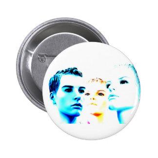Cool faces (three) friends, minimalist design pins