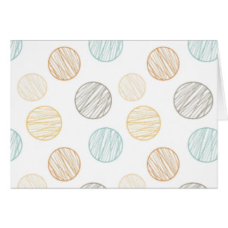 Cool Faded Colorful Balls of Yarn Pattern Gifts Card