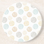Cool Faded Colorful Balls of Yarn Pattern Gifts Coaster