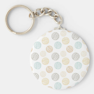 Cool Faded Colorful Balls of Yarn Pattern Gifts Basic Round Button Keychain