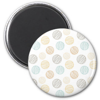 Cool Faded Colorful Balls of Yarn Pattern Gifts Magnet