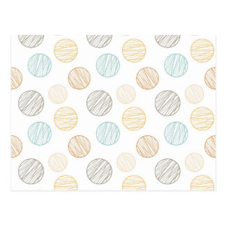 Cool Faded Colorful Balls of Yarn Pattern Gifts Postcard