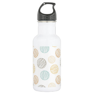 Cool Faded Colorful Balls of Yarn Pattern 18oz Water Bottle