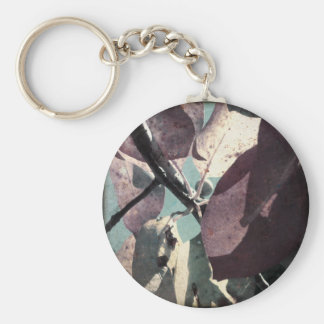 Cool Fall Leaves II Basic Round Button Keychain