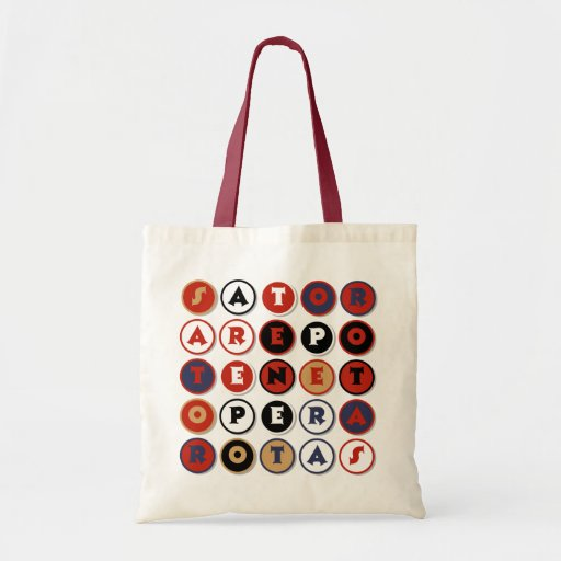 Cool famous Latin palindrome Canvas Bag