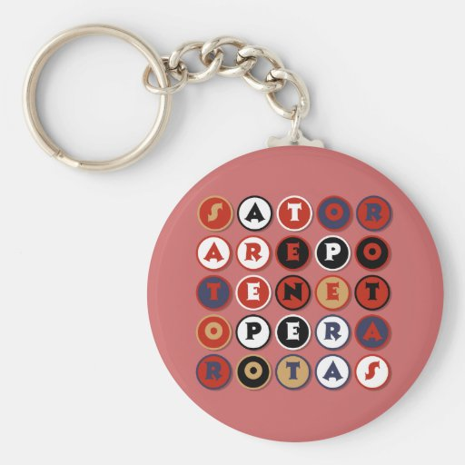 Cool famous Latin palindrome Key Chains