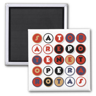 Cool famous Latin palindrome 2 Inch Square Magnet