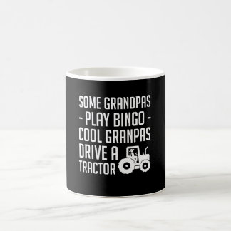 Cool Farmer Grandpas Drive Tractor Shirt Coffee Mug