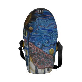 Cool farrowed inspired by Hundertwasser Courier Bag