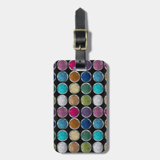 cool Fashionable colourful glitter eye shadows Bag Tag