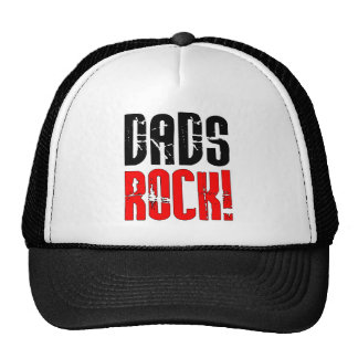 Cool Fathers Day Birthdays Christmas : Dads Rock Mesh Hats