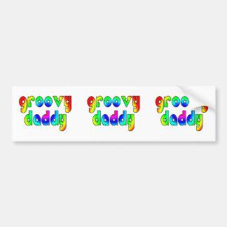 Cool Fathers Day & Hip Dads Birthdays Groovy Daddy Bumper Sticker