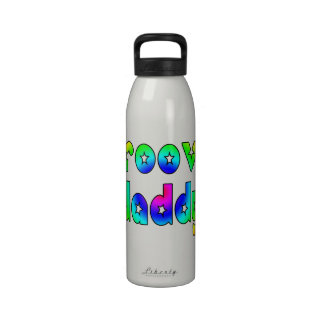 Cool Fathers Day & Hip Dads Birthdays Groovy Daddy Drinking Bottle