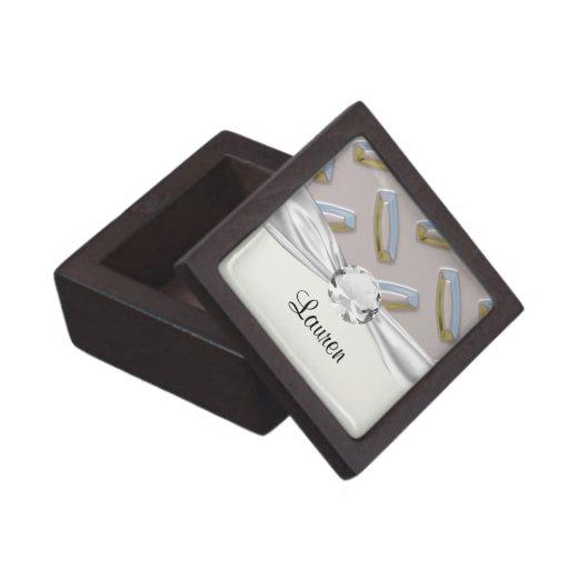 cool faux diamond plate pattern premium gift boxes