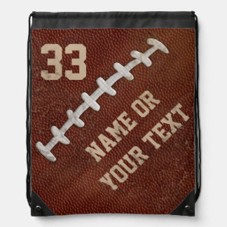 Cool faux Dirty Football Backpacks with YOUR TEXT