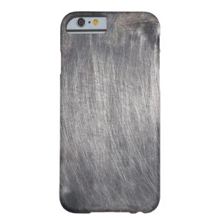 Cool Faux Scratched Metal Texture Barely There iPhone 6 Case