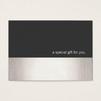 Cool Faux Silver Stripe Modern Gift Certificate