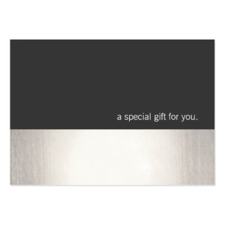 Cool Faux Silver Stripe Modern Gift Certificate Large Business Card
