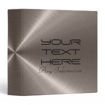 Cool Faux Stainless Steel Metal Image Binder