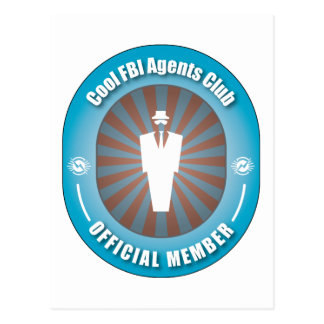 Cool FBI Agents Club Post Card