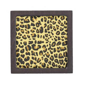 cool feline skin pattern image print premium jewelry box