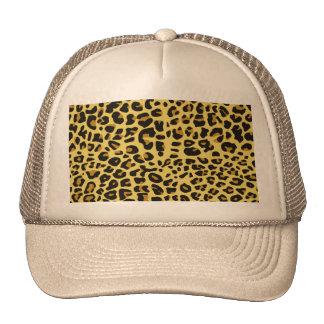 cool feline skin pattern image print trucker hat