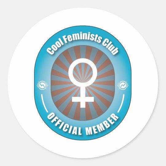 Cool Feminists Club Classic Round Sticker