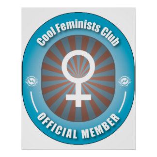 Cool Feminists Club Poster