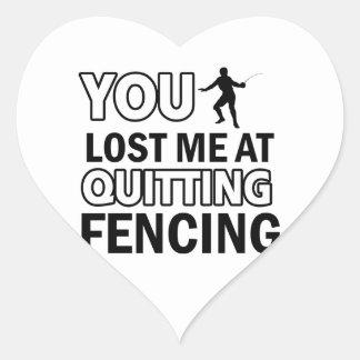 Cool Fencing designs Heart Sticker