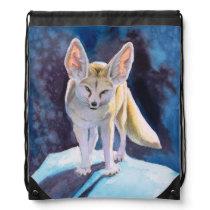 Cool Fennec Fox Drawstring Bag